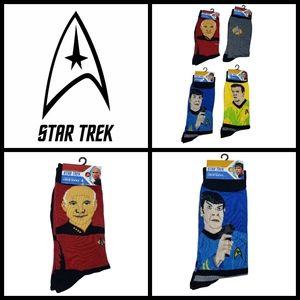 4 pairs of Star Trek socks, fits size